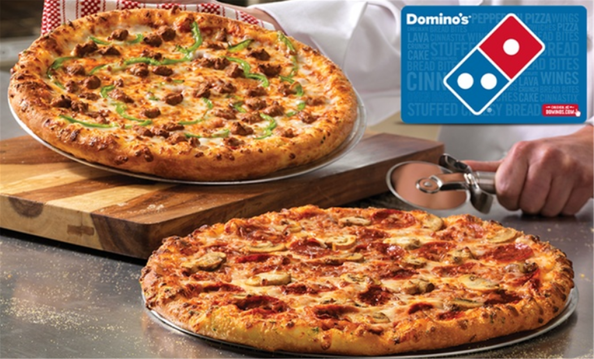 Domino's $25 eGift Card Only $20 at Groupon!
