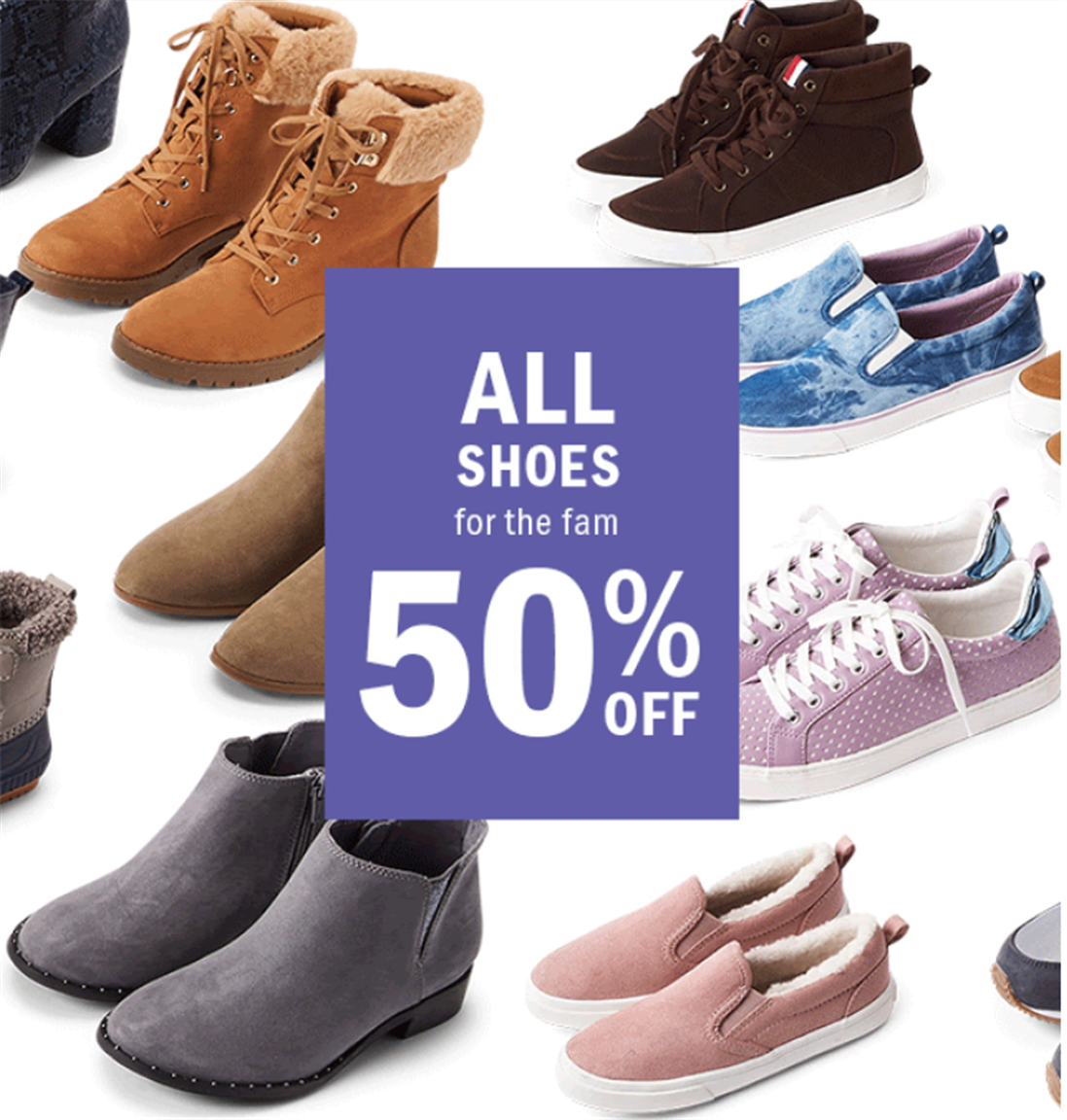 Old Navy – (Today Only) 50% Off Shoes for the Whole Family + Additional 25% Off + Free Store Pickup!