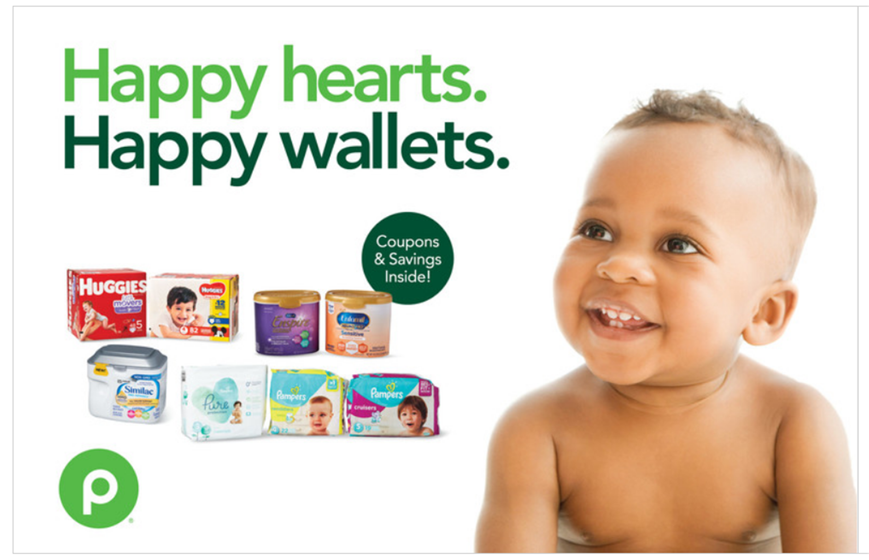 Publix – Happy Hearts. Happy Wallets Printable Baby Coupons