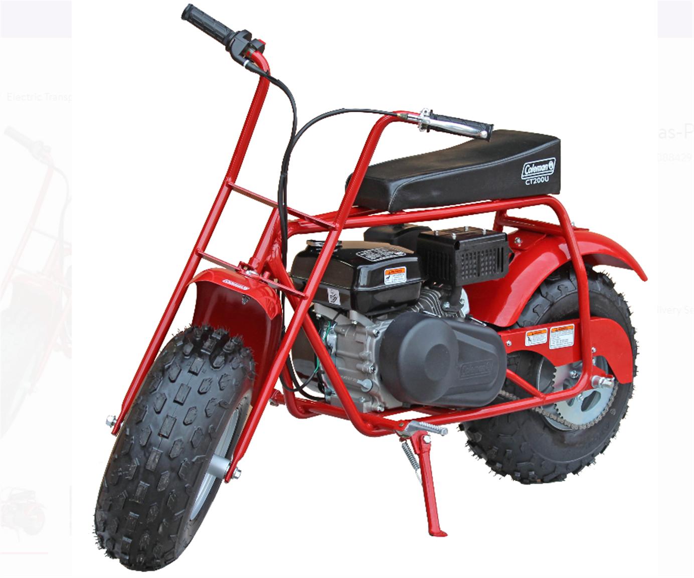 Walmart.com – Coleman CT200U-A Trail 196cc Gas-Powered Mini Bike Only $449.00, Reg $599.00 + Free Store Pickup!