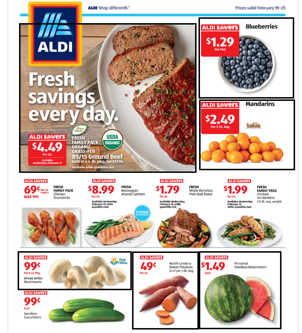 Best Fruit & Vegetable Deals at Aldi for February 19-25