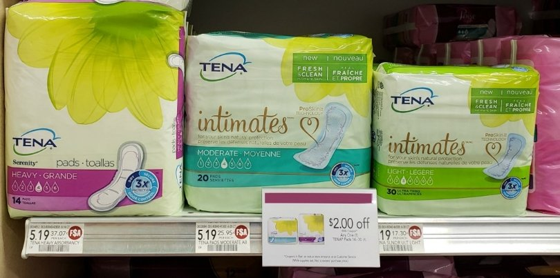 FREE Tena Pads + Moneymaker at Publix!