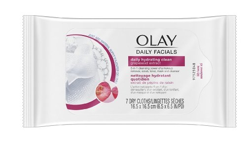Olay Daily Facial Hydrating Cleansing Cloths with Grapeseed Extract Only $1.71 at Walgreens.com + Free Store Pickup!