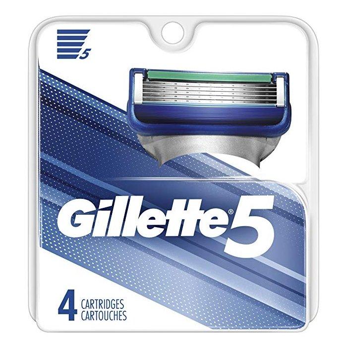 Gillette 5 Men's Razor Blade 4-Count Refills Only $5.30, Reg $9.79 + Free Shipping!