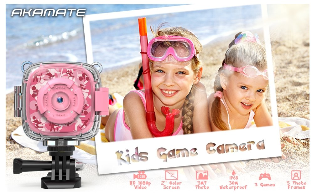 AKAMATE Kids Action Waterproof Video Digital Camera Only $18.99, Reg $39.99 + FREE SHIPPING!