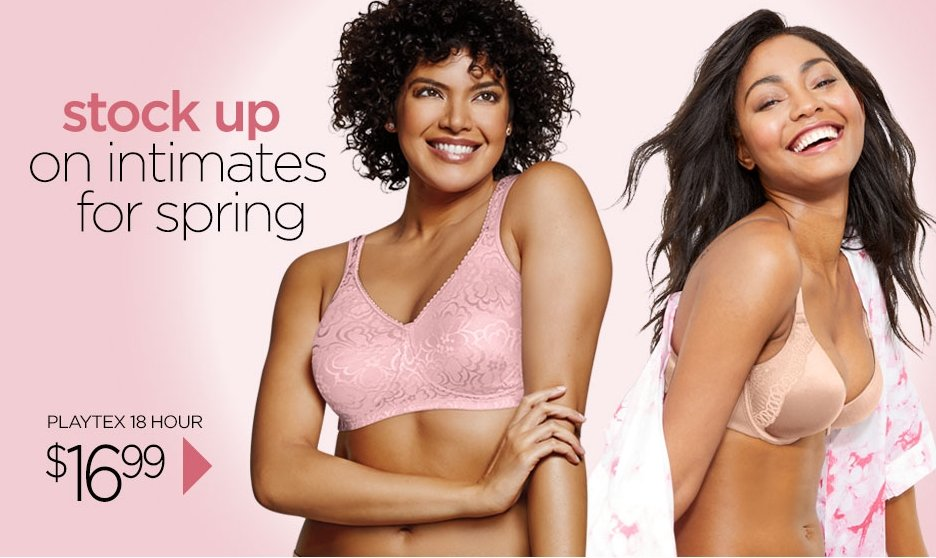 One Hanes Place – ALL 18 Hour Bras Only 16.99 + Free Shipping!
