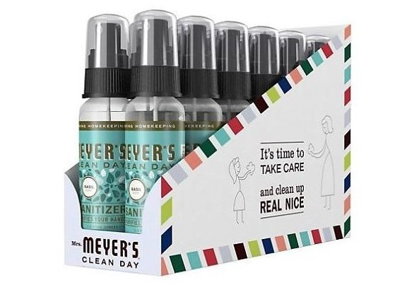 Mrs. Meyer's 12-Count  Hand Sanitizer (2-Oz Ea.) Only $36.96 + Free Shipping! Just $3.08 each!
