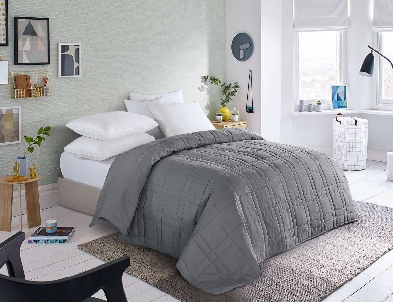 Walmart – Mainstays Down Alternative Quilted Twin-XL Bed Blanket (Grey or Blush) Only $10, Reg $21.59! Great Mother's Day Gift!