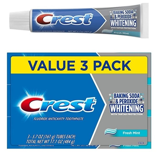 Amazon – Crest Cavity & Tartar Protection Whitening Toothpaste 3-Pack Only $3.74 Shipped!