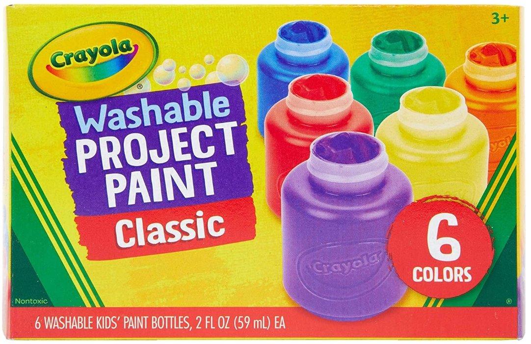 Amazon – Crayola 6 Count Washable Kids Paint Only $5.84, Reg $14.00!