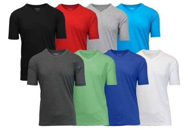 Groupon – 8 Pack Men's Short-Sleeve V-Neck Fitted Tees (S–5XL) Variety Of Colors Only $39.99, Reg $159 + Free Shipping!