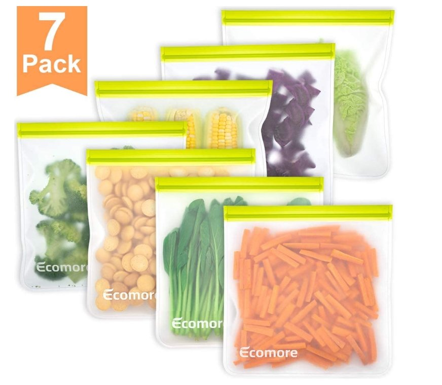 Reusable 7 Pack Of 1 Gallon Ziplock Storage Bags Only $13.99, Reg $18.99 at Amazon!