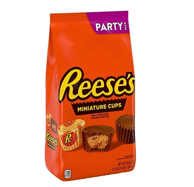 Amazon – Reese's Milk Chocolate Peanut Butter Cup Miniatures Party Bag, 35.6 oz Only $5.52