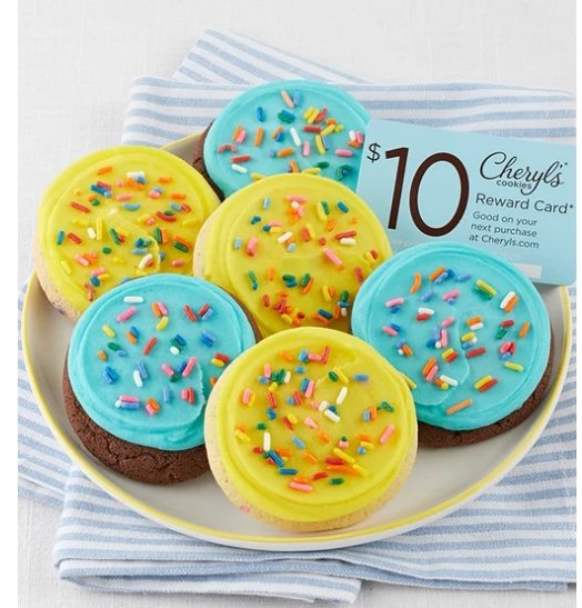 Cheryl's Birthday Cookie Sampler AND a Free $10 Reward Card Only $9.99 Shipped!
