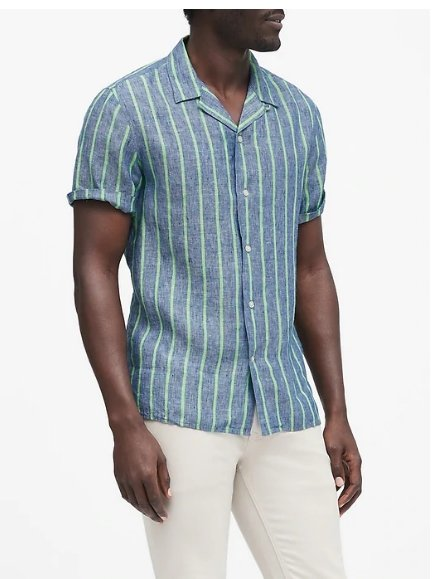 Banana Republic – Men's Casual Shirts Only $18, Reg $64.50 + Free Curbside Pickup! GREAT FATHERS DAY GIFT!