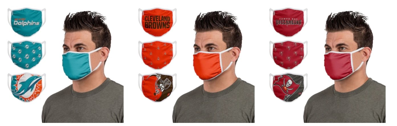 NFL Face Masks 3-Pack Only $27.48 Shipped (Just $9.16 Each)
