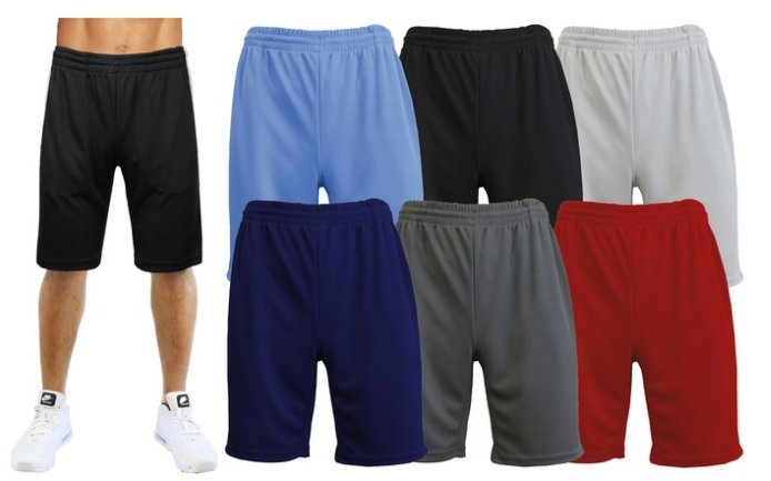 Galaxy by Harvic 3- Pack Of Men's Moisture Wicking Active Mesh Performance Shorts (S-2XL) Only $21.98 Shipped! Just $7.33 Each!