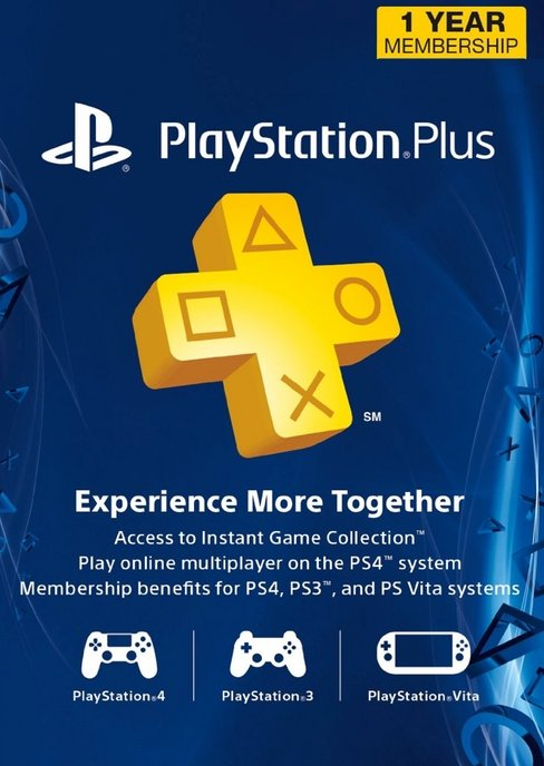 Sony PlayStation Plus 1-Year Membership Only $30.80, Reg $59.99! (Digital Delivery)
