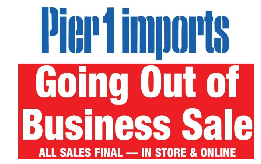 Pier 1 – Going Out Of Business Sale – Up To 40% Off Everything!