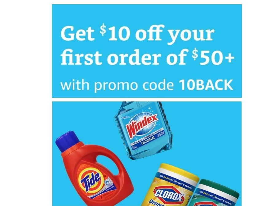 Amazon – Get $10 Off Your first Prime Pantry Order of $50 or More!