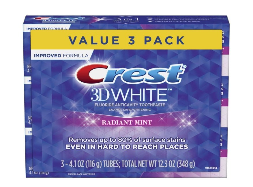 Amazon – Crest 3D White Toothpaste 3-Pack Only $5.49 + Free Shipping!