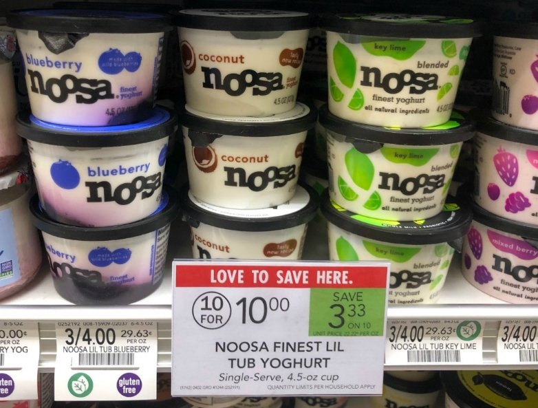 Publix – Noosa Finest Yoghurt Lil Tub, 4.5 oz cup Only 33¢ each (Reg $1.00) PRINT YOUR COUPON NOW!