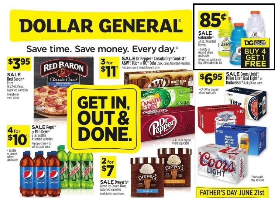 Dollar General – 32oz Gatorade in Assorted Flavors Only 68¢ Each!