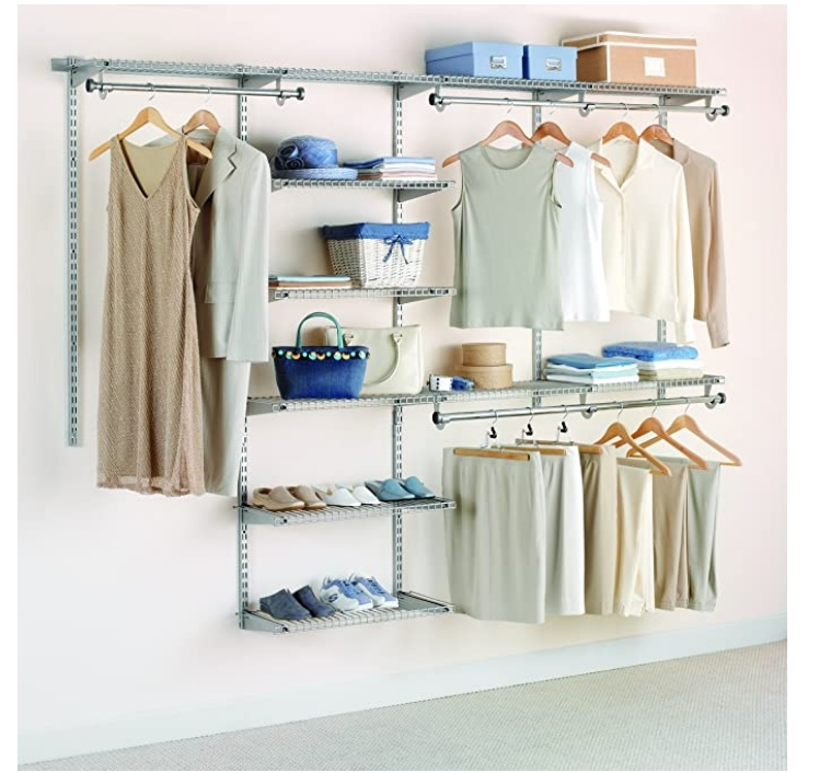Rubbermaid 4-to-8-Foot Closet Organizer Kit Only $105.00, Reg $220.00 + Free Shipping!