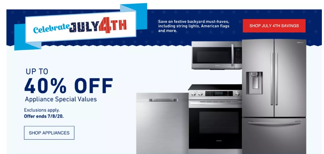 Lowes – Save Up To 40% On Select Appliances + Save An Additional $700.00 With Promo Code + Free Delivery!