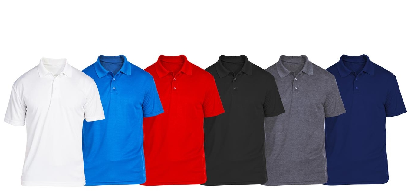 SEL 6-Pack Men's Cotton Jersey Polo (S-2XL) Only $34.99 + Free Shipping! Just $5.83 each