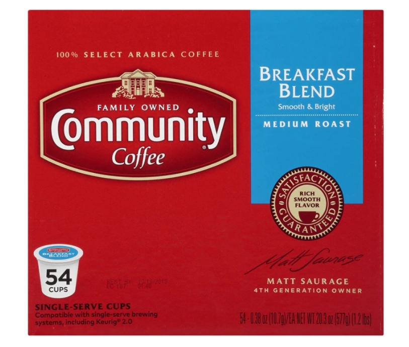 Community Coffee 54-Count K-Cup Pods Only $16 Shipped on Amazon!