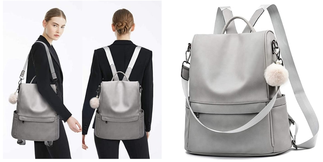 Women's Highly Rated PU Leather Backpack Purse As Low As $25.99 + Free Shipping at Amazon! (Variety Of Colors)
