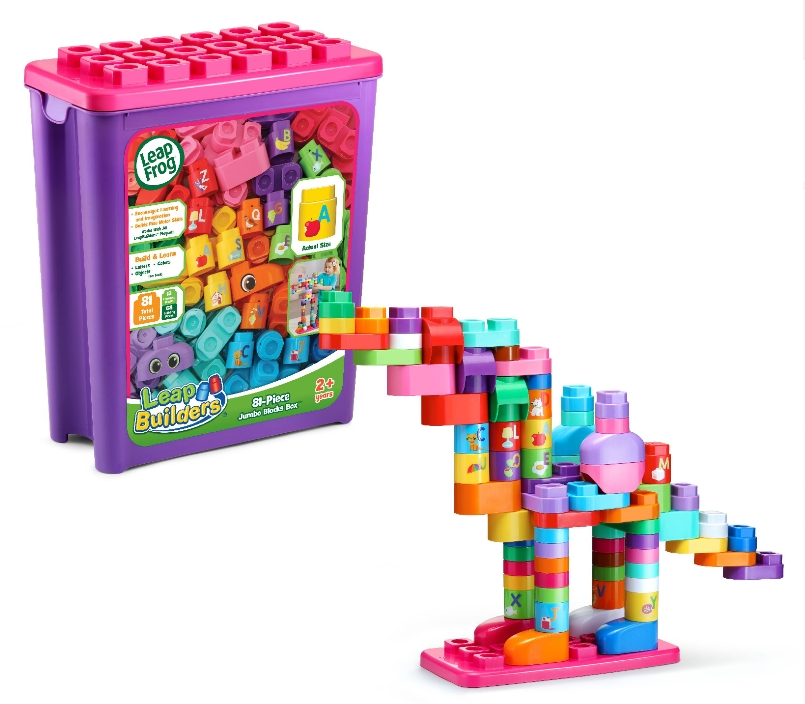 LeapBuilders 81-Piece Jumbo Blocks Box (Pink) Only $12.59, Reg $19.99 at Walmart.com!