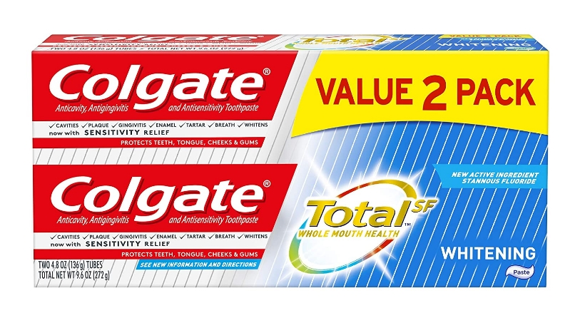Colgate Total Whitening Toothpaste 4.8 ounce (2 Pack) Only $3.74 + Free Shipping at Amazon!