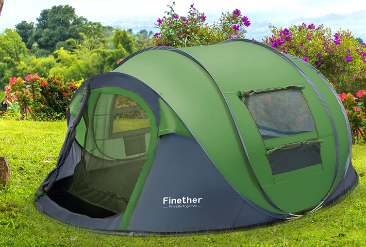 Finether 5 Person Pop-Up Camping Tent Only $69.99, Reg $129.99 + Free Shipping!