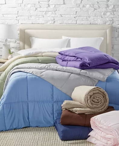 Lightweight Microfiber Color Down Alternative Comforter in ANY SIZE Only $19.99 (Reg $110) + Free Shipping at Macys.com