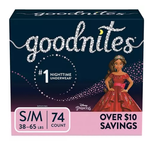 GoodNites Bedtime Underwear 74 Count for Girls $8 Off When You Buy 2 at Sam's Club + Free Store Pickup!