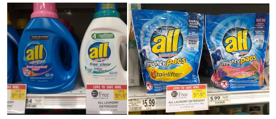 All Laundry Detergent Only $2.00 (Regularly $6.00) at Publix