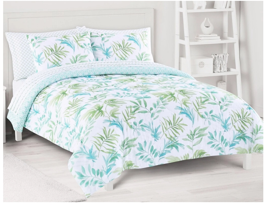 Kohls.com – Up to 70% Off Select Bedding Sets! Big One Breezy Palms Reversible Comforter Set with Sheets Only $25.00!