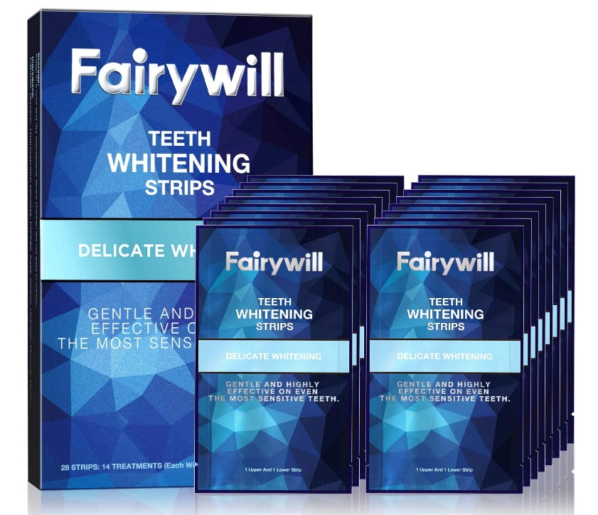 Fairywill 28-Count Teeth Whitening Strips for Sensitive Teeth Only $9.99 at Amazon!