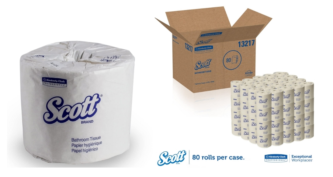 Scott Essential Professional Recycled Toilet Paper 80-count Box Only $37.86 Shipped!