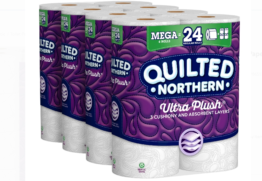 Quilted Northern 24-Pack (Equal 96 regular rolls) of Mega Rolls Bathroom Tissue Only $23.78, Reg. $41.96 at Walmart!