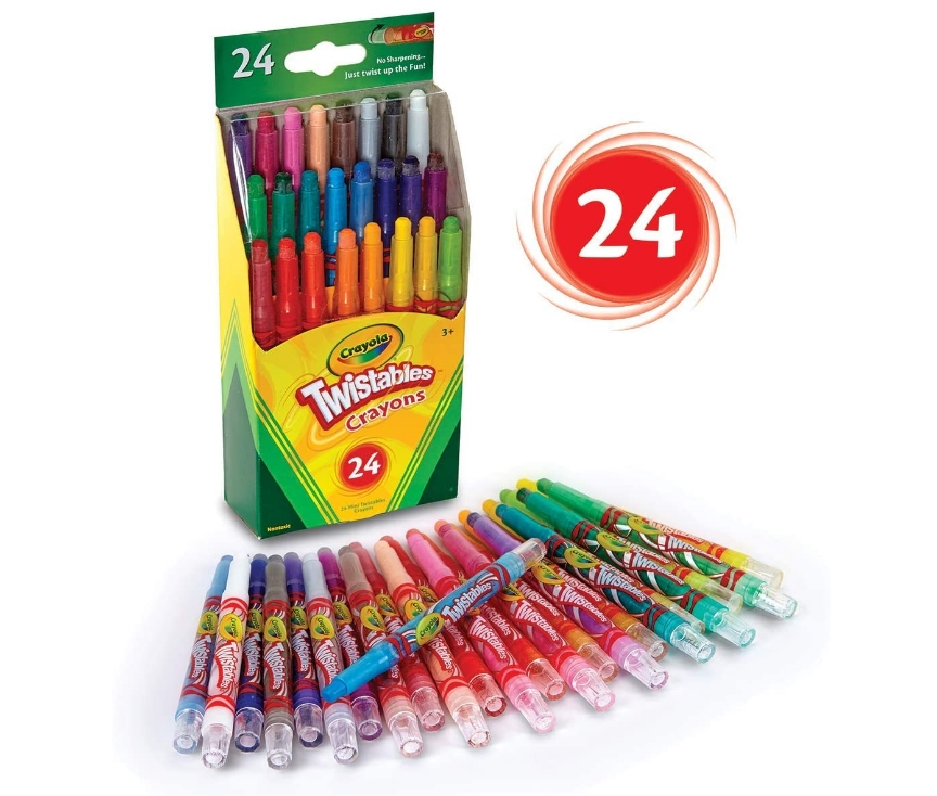 Crayola Twistables Crayons Coloring Set, 24 Count Only $3.99, Reg. $5.99 at Amazon!