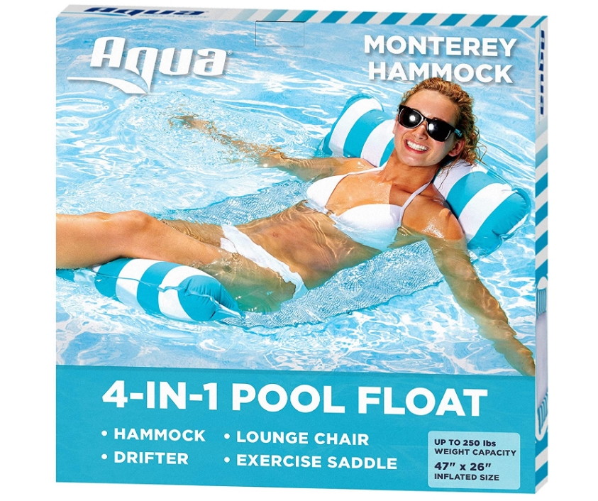 Aqua 4-in-1 Monterey Hammock Inflatable Pool Float Only $9.39 + Free Shipping at Amazon!