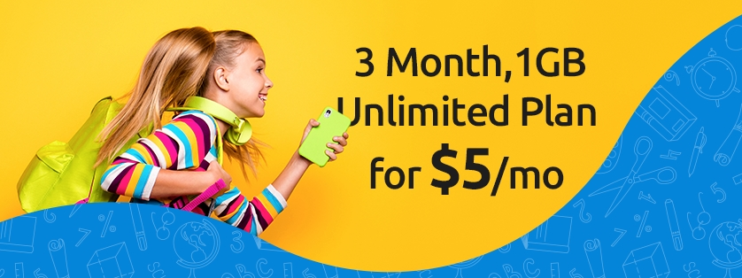 Tello Mobile 1GB, Unlimited Minutes and Text Plan Only $5 a Month! No Fees Or Contract!