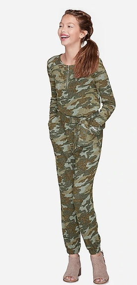Justice – Extra 50% Off Clearance Items w/Code! Camo Snuggly Soft Jumpsuit Only $9.50!