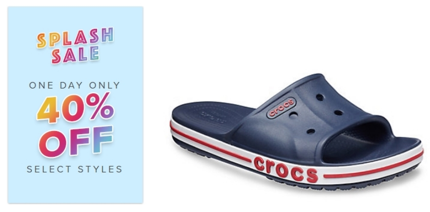 Crocs Splash Sale – Up To 70% Off + Additional 40% Off In Cart! Bayaband Slide Only $19.94, Reg $34.99!
