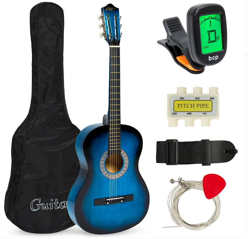 Best Choice Products Beginners Acoustic Guitar with Case, Strap, Tuner and Pick Only $39.99, Reg $88.99 + Free Shipping!