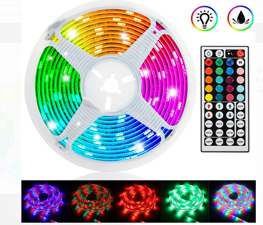 TSV Waterproof 16 Foot Muliticolor Changing Flexible LED Rope Lights With Remote Control Only $13.99, Reg $26.20 + Free Shipping at Walmart!