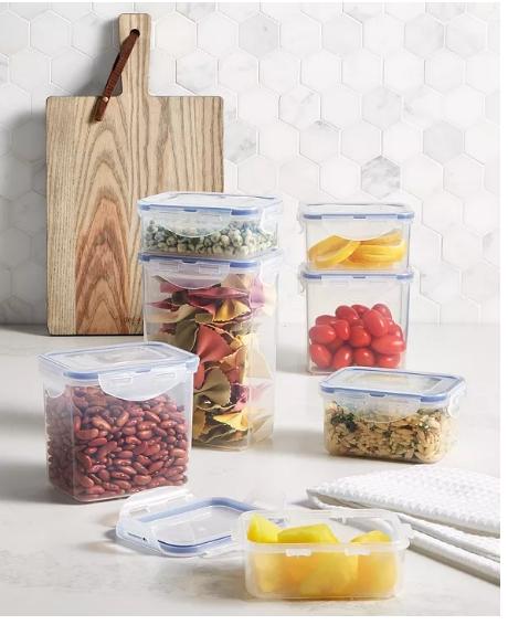 Lock N Lock 14-Piece Food Storage Set Only $15.99, Reg $33.00 + Free Store Pickup at Macy's!